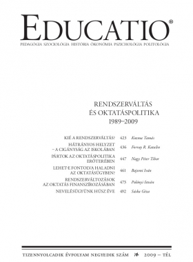 Educatio 2009/4 címlap