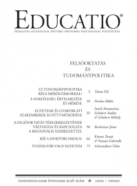 Educatio 2009/1 címlap