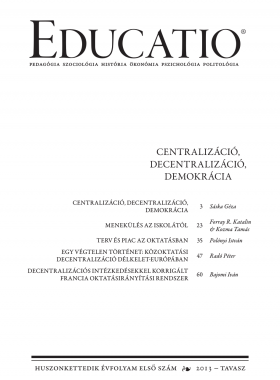 Educatio 2013/1 címlap