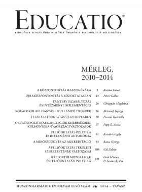 Educatio 2014/1 címlap