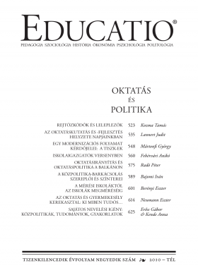 Educatio 2010/4 címlap