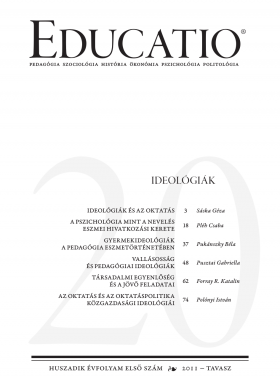 Educatio 2011/1 címlap